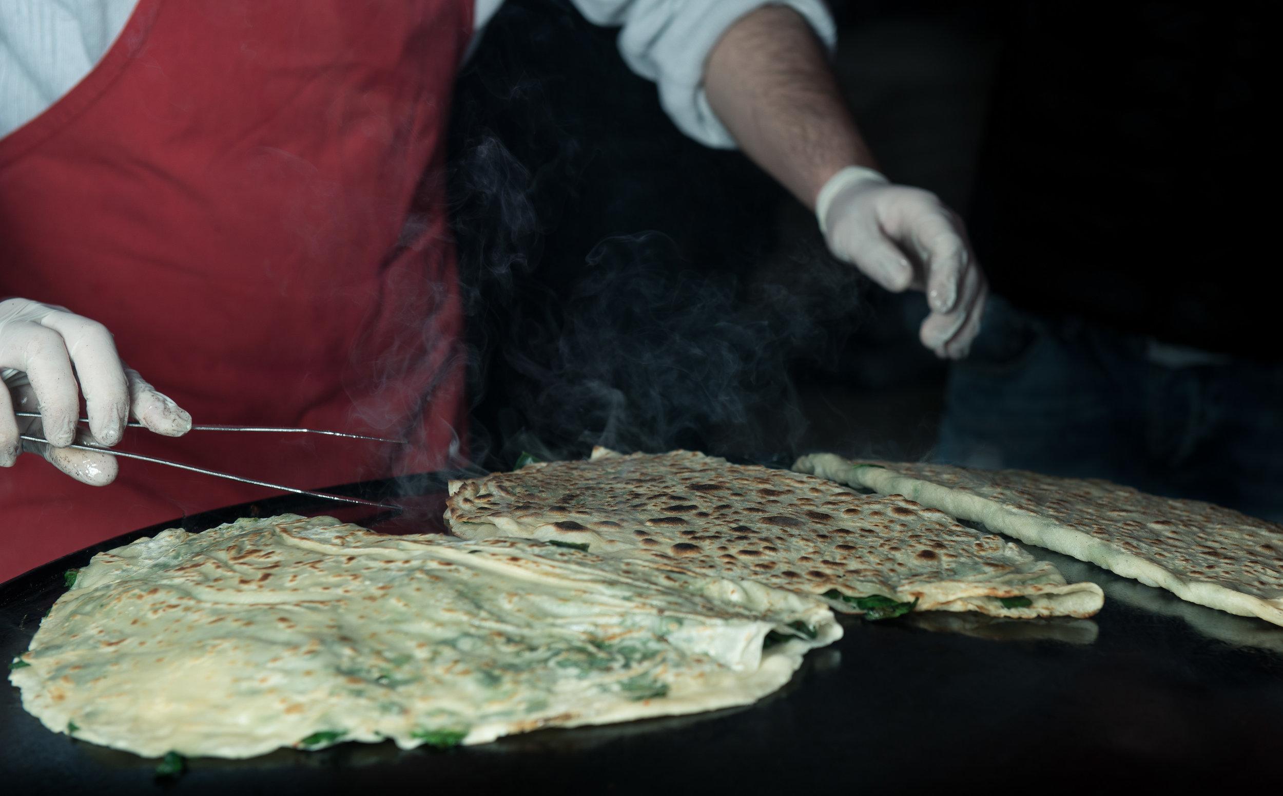 Gozmele at Isntabul's kalirkoy market