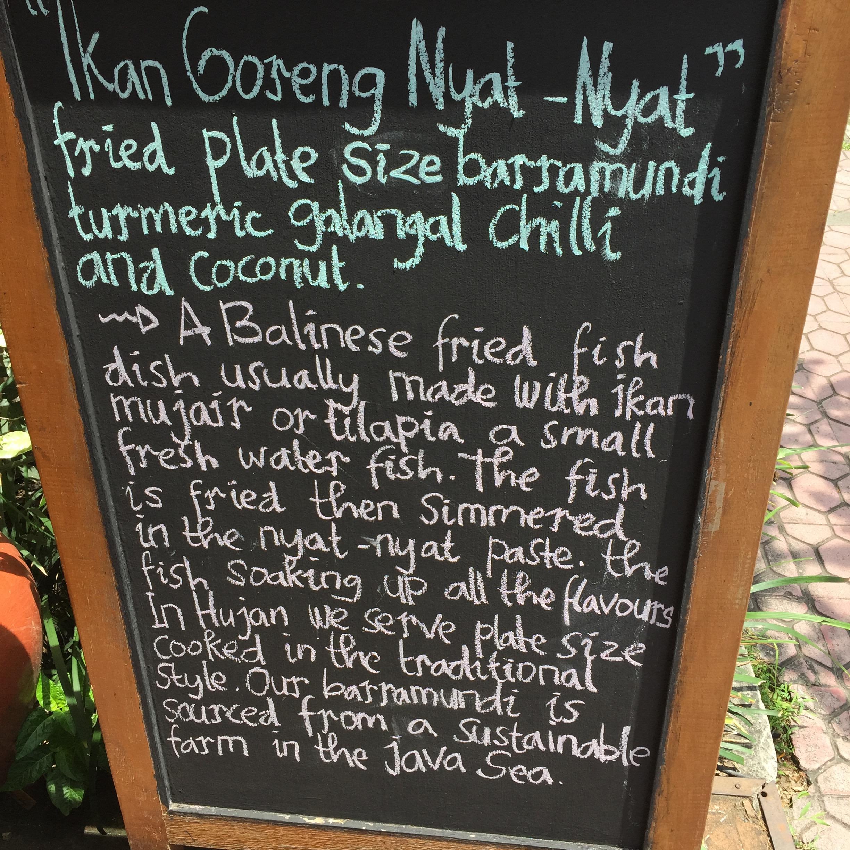 Street food inspired menu at Will Meyrick's Hujan Locale in Ubd
