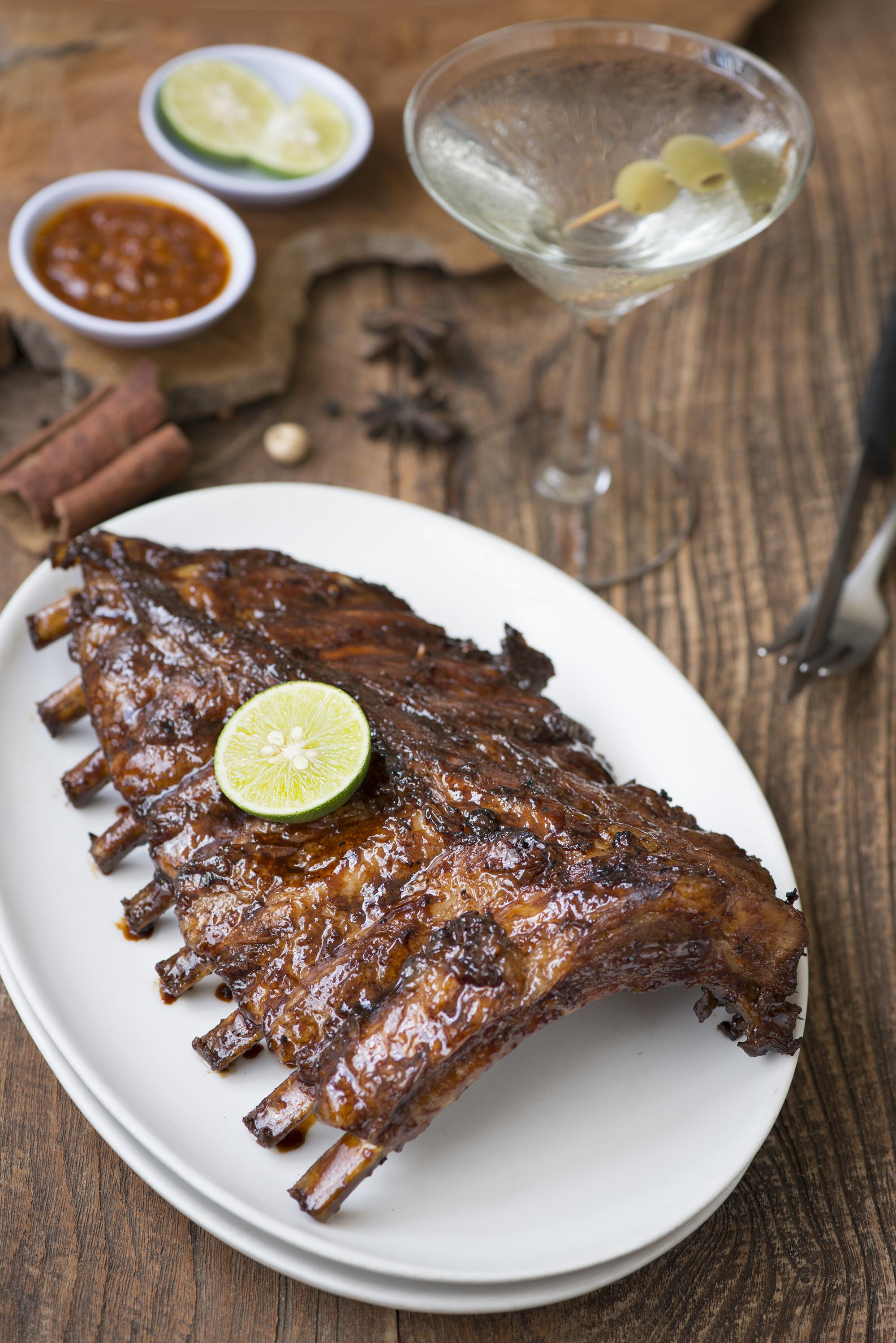 Barbequed ribs at Naughty Nuri's Warung