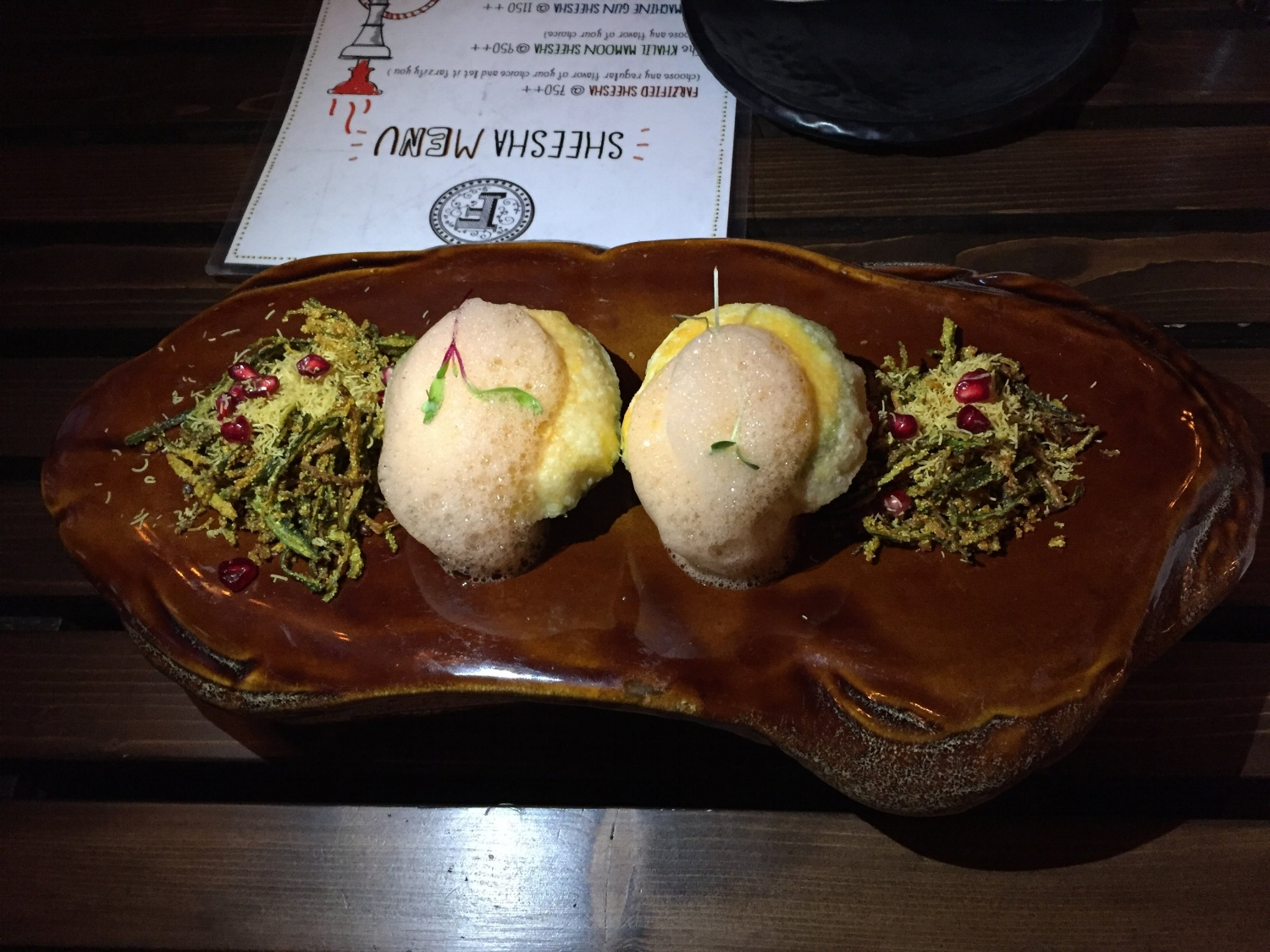 Mini Raj Kachori from Delhi's Farzi Cafe.