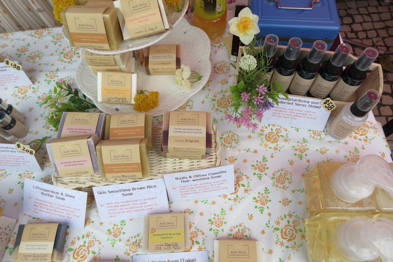 Kiddy Shirley soaps for sale at Handmade Hong Kong Market