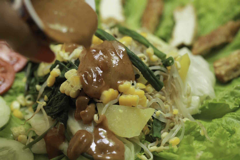 Indonesian Gado-Gado Salad with Peanut Dressing