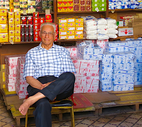 Proud shopkeeper in Casablanca's Old Medina