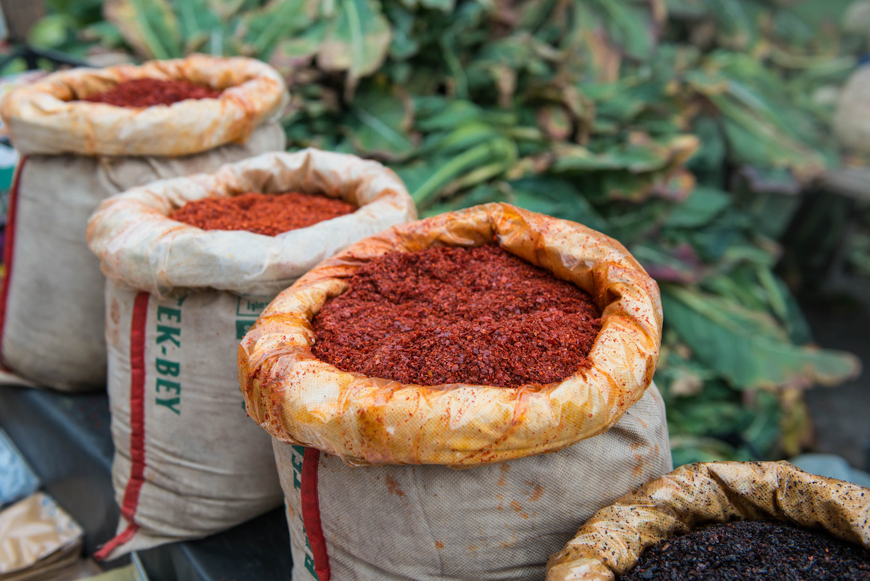 Turkish biber in bags at Bakirkoy Market.png