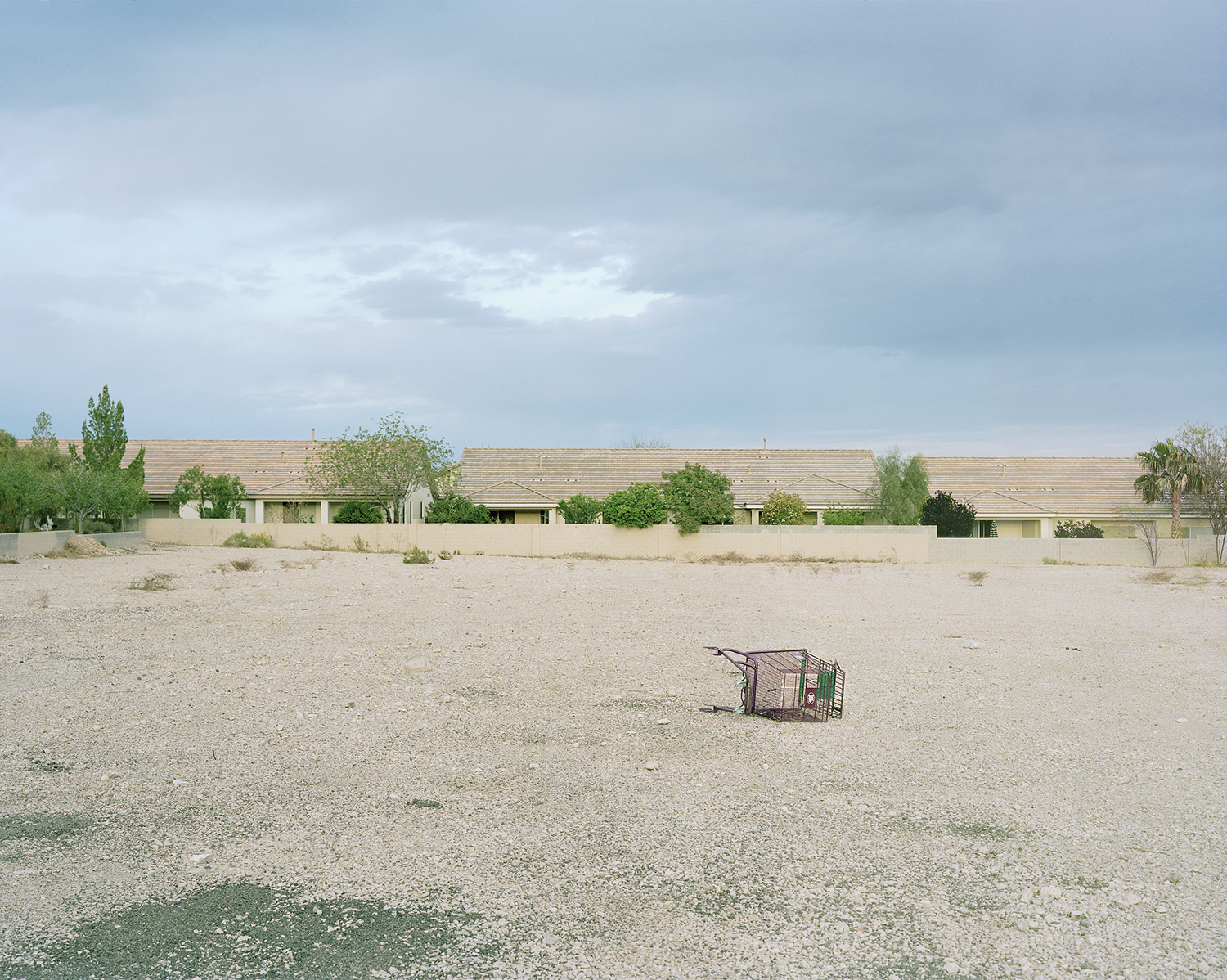 99c Store Cart, Fort Apache and Russel, Summerlin, Las Vegas  from the series  What makes grass grow in the desert