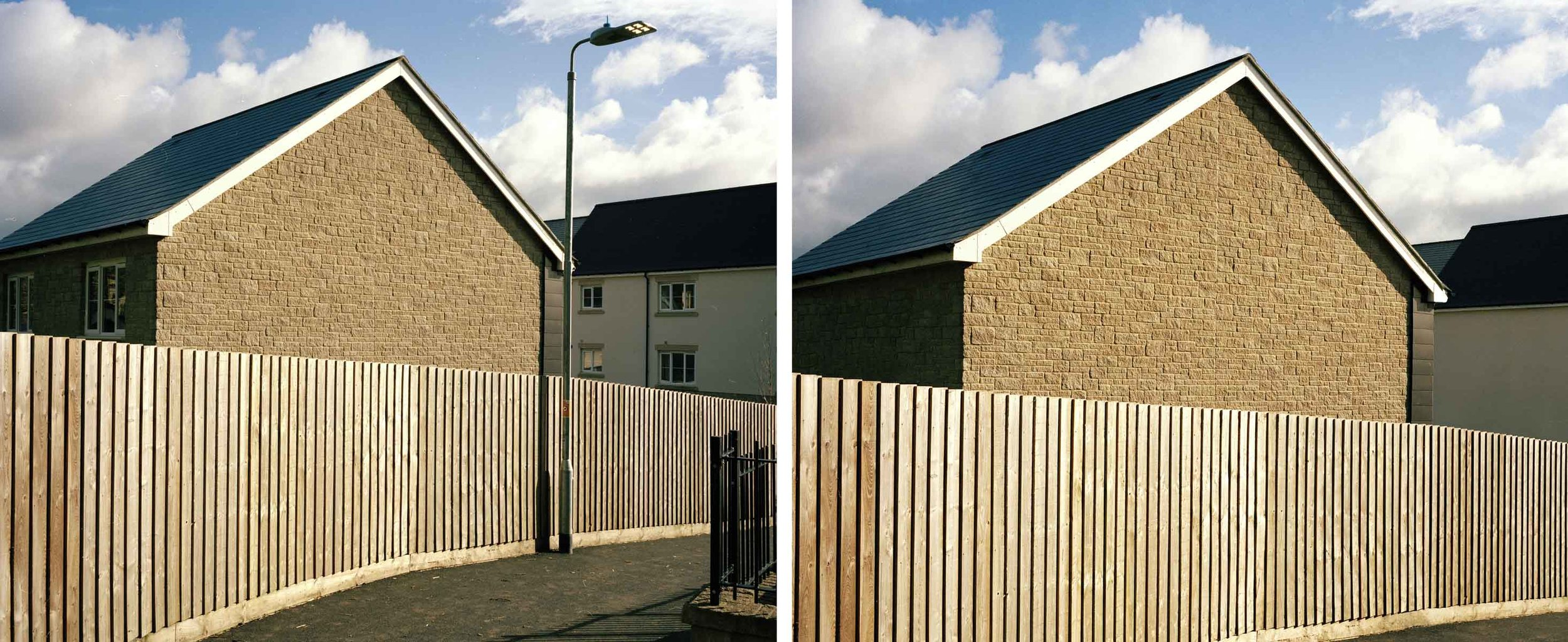 Before and after the image had been manipulated during post production.