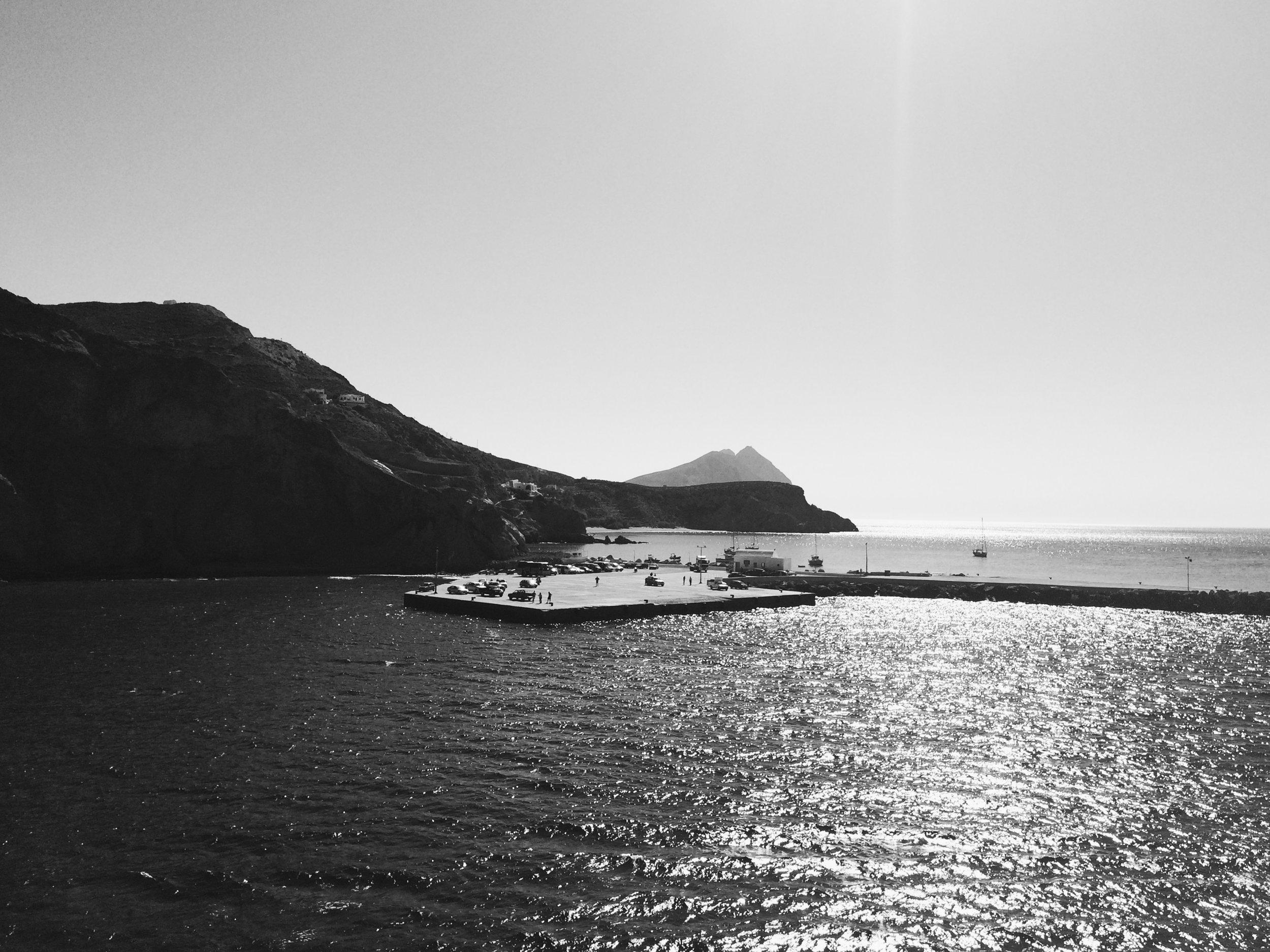 Arrival at Anafi , Anafi, the Cyclades, 2016