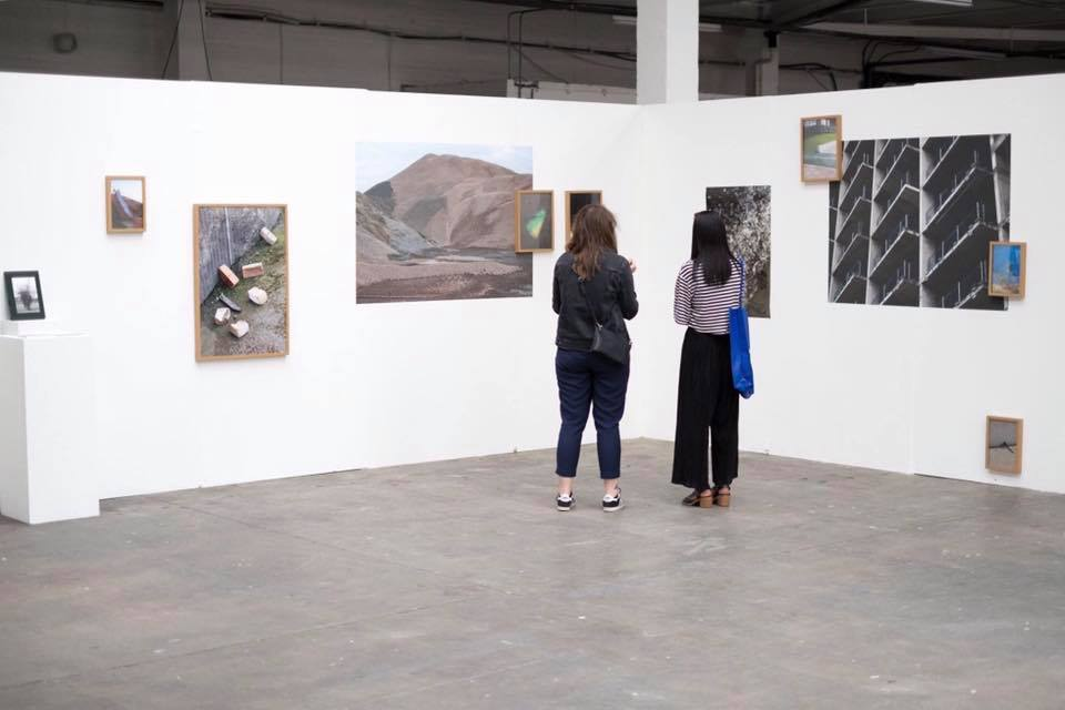 Installation shot of  There's Room Enough for Both of Us  at Free Range 2017
