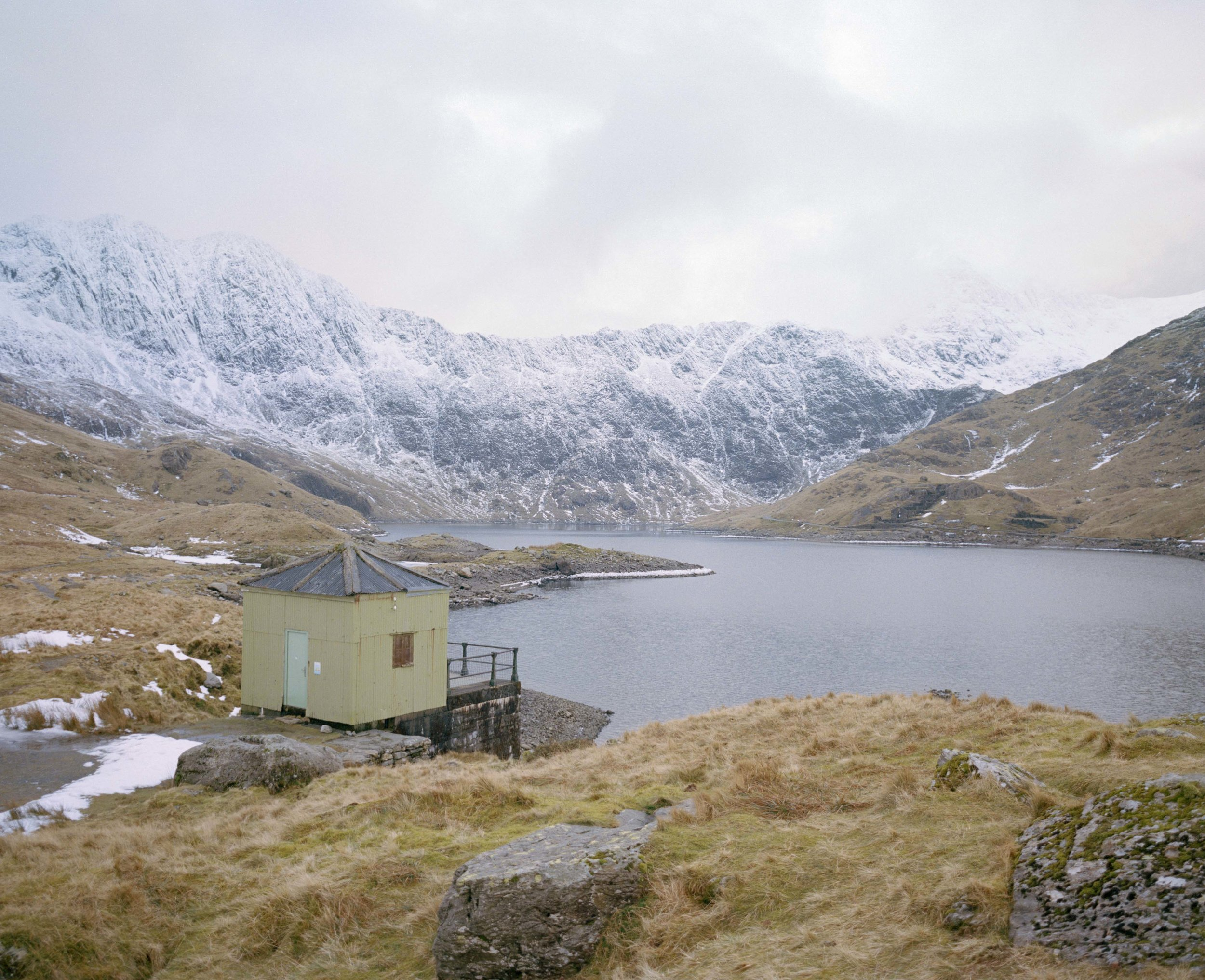 Lake Llydaw - A natural lake, one third of the way up Mt.Snowdon. The water is used to generate electricity via the Cwm Dyli Hydroelectric Power Station situated in the valley below.