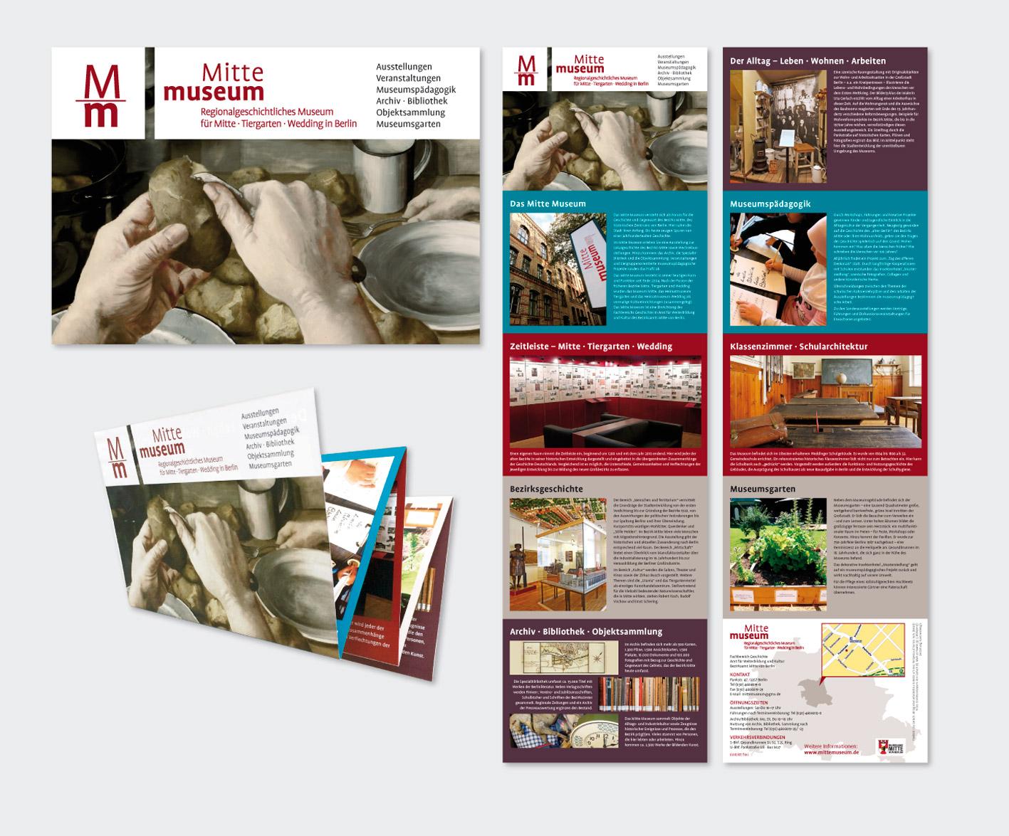 Mitte Museum,  Berlin Folder (A6, 10 Seiten, Zickzackfalz)