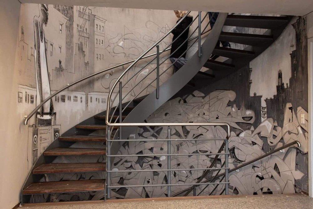 CMP ONE x SWET hos GRISK LAB, Galleri grisk, galvmaleri, udsmykning, facadekunst, galleri grisk, street art