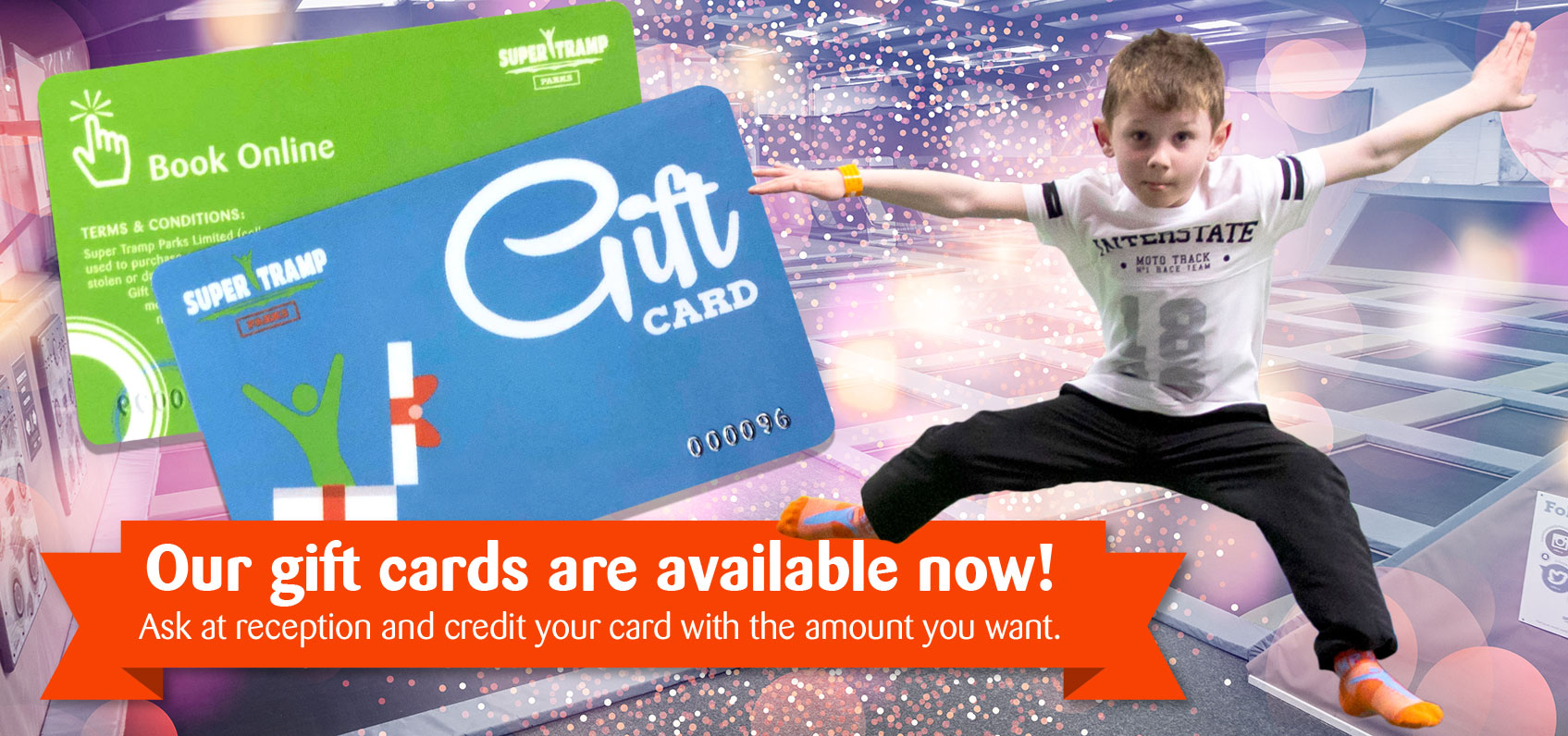 Gift cards available to order online or at reception