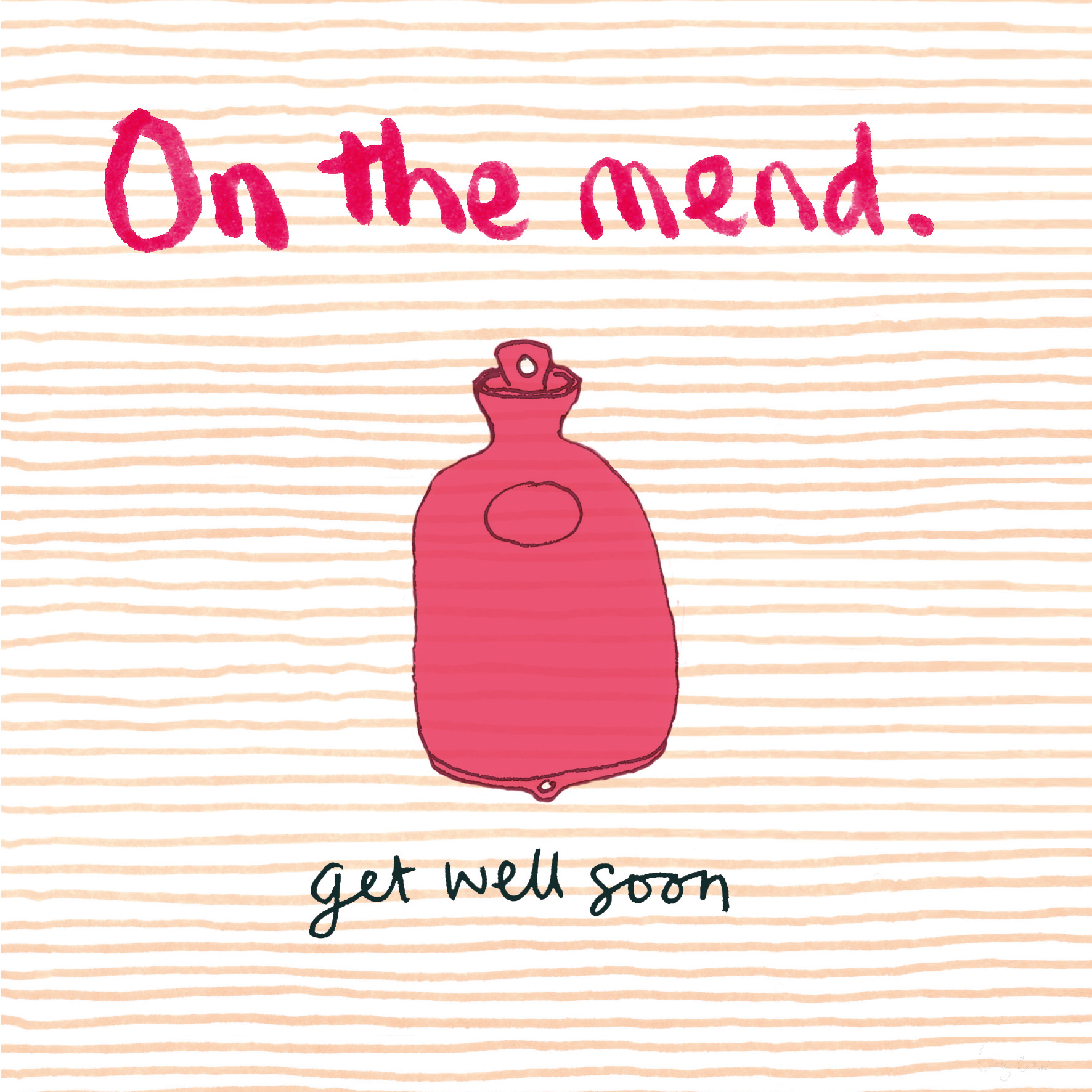 Get Well Soon card by  Poet and Painter