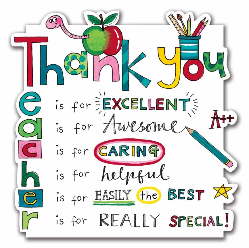 Thank you Teacher Card by  Rachel Ellen