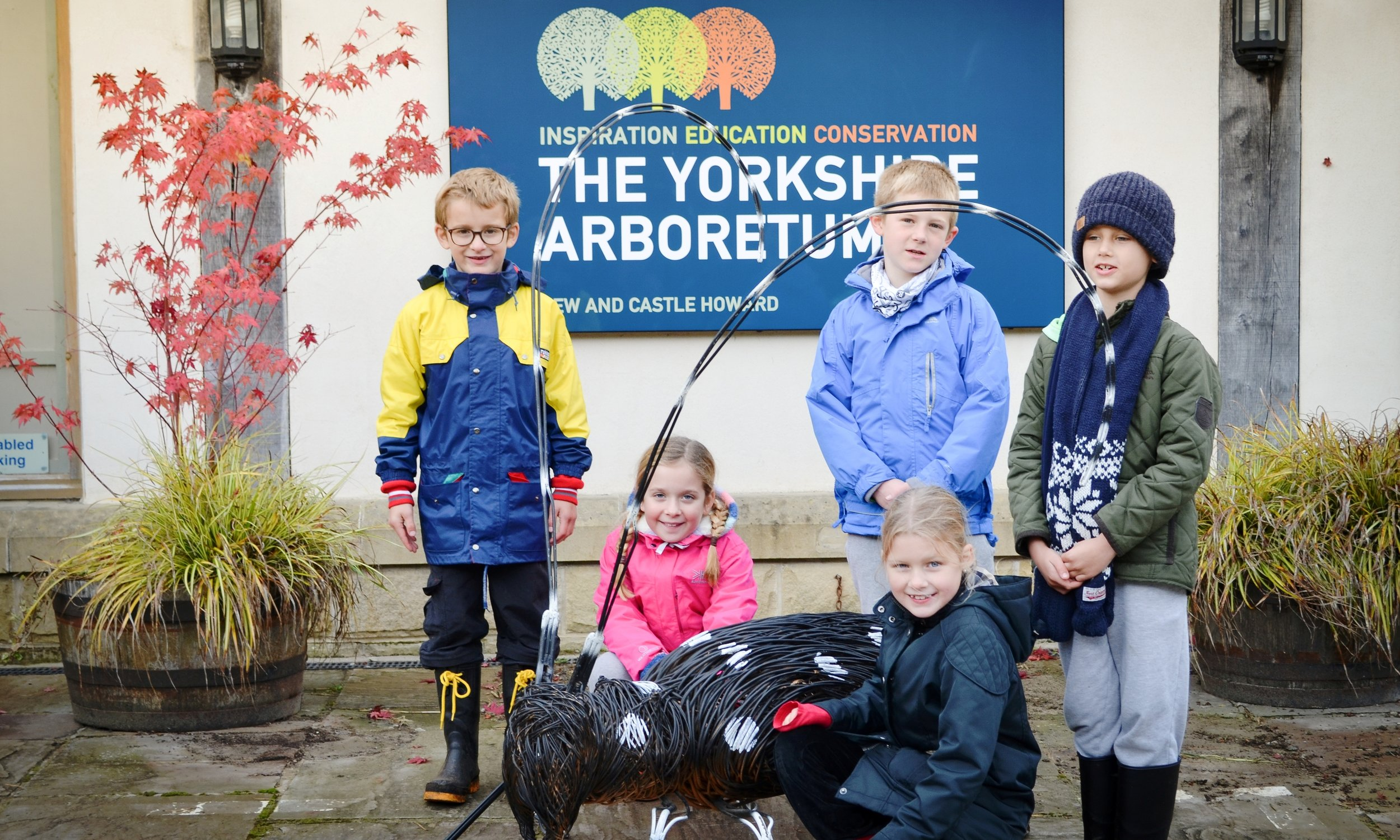 Searching for ugly bugs at the Yorkshire Arboretum this half term - October 2015