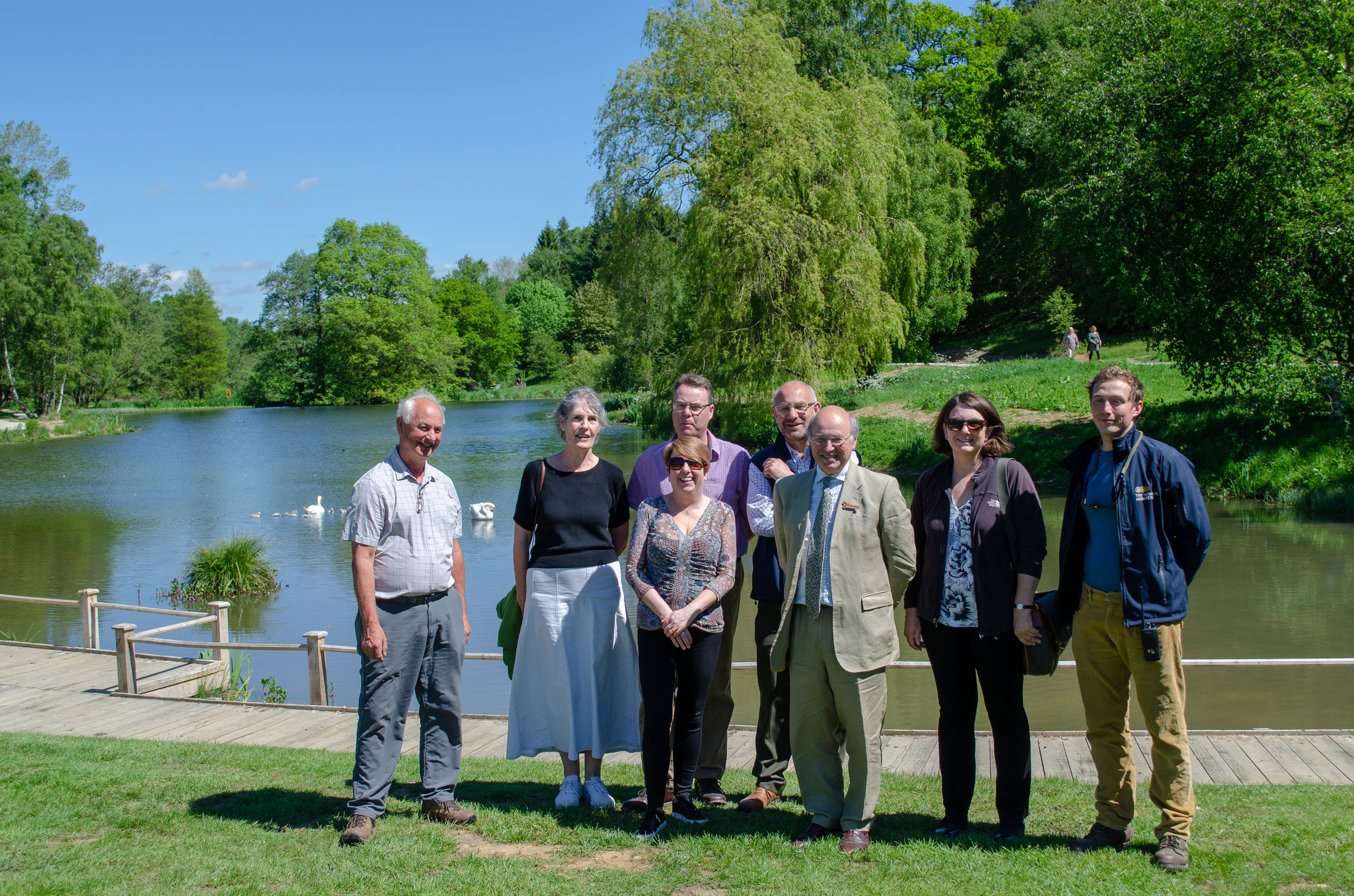 Lord Gardiner of Kimble, Parliamentary Under Secretary of State for Rural Affairs and Biosecurity Visits Yorkshire Arboretum