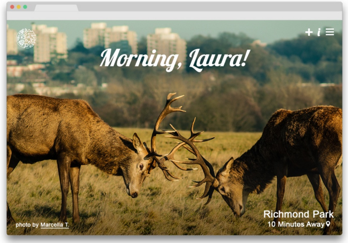 Idea: Nature on Tab. See a local photo of nature in your browser every time you open a new tab.