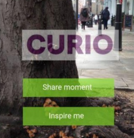 Idea: Curio. A photo sharing app enabling strangers to exchange a photo of nature along with a feeling.