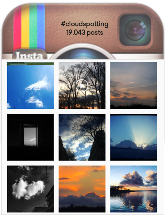 Inspiration: Most #cloudspotting posts appreciating beautiful sky-scapes and sunsets rather than noting any particular weather patterns.