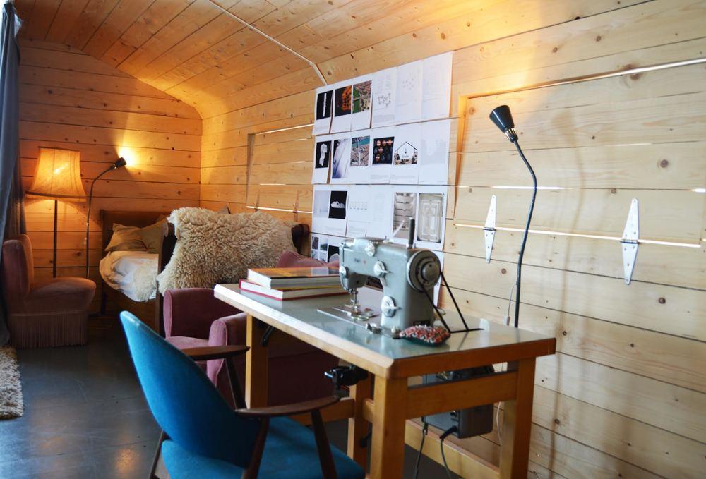 flexible workspace/living room
