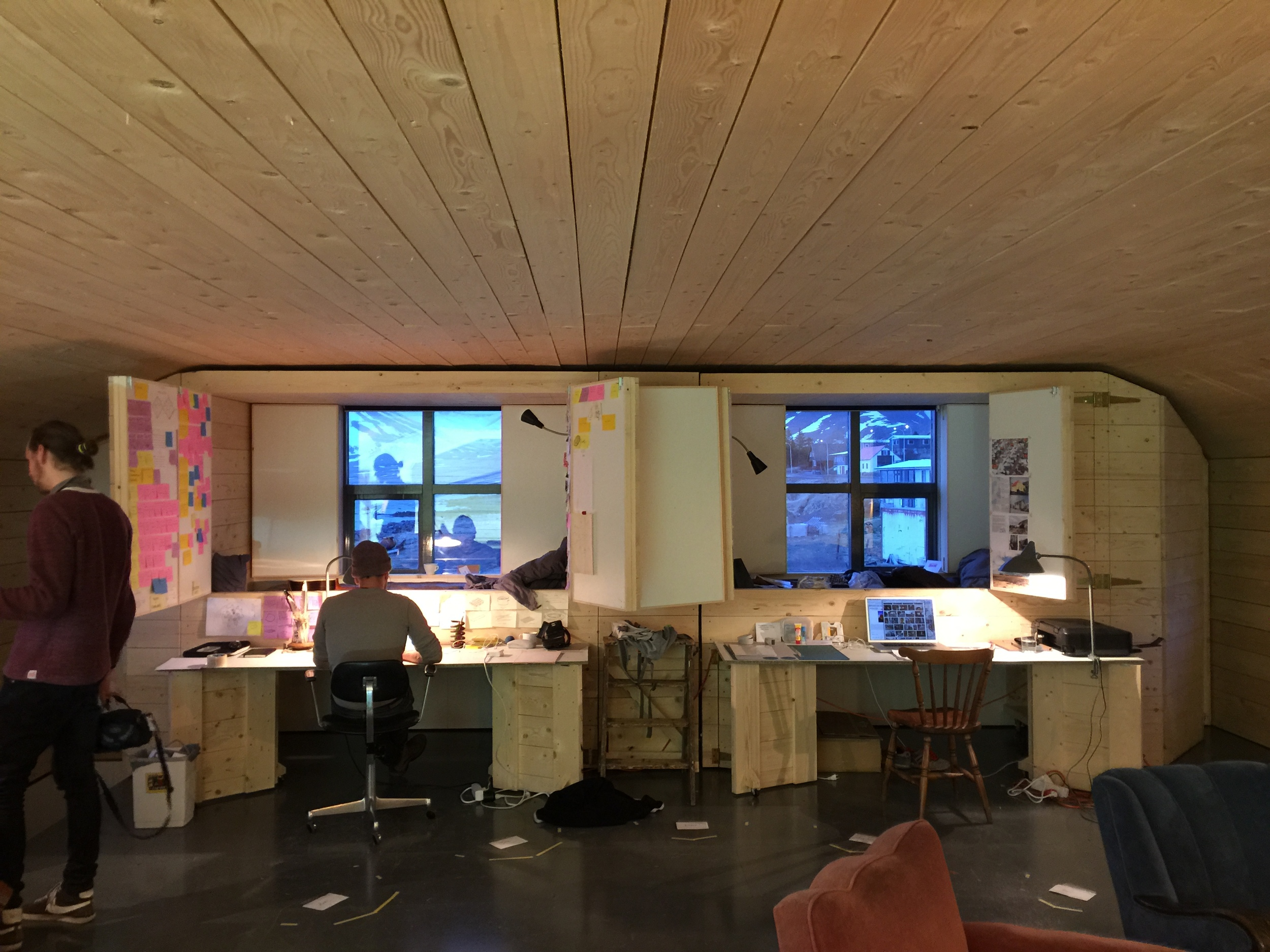 workspace in the Harbor House