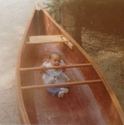 Me in my Dad's Canoe in 1979