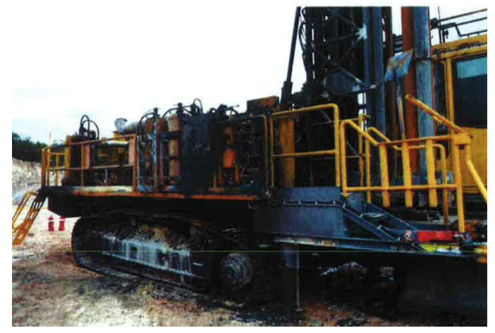 Figure 1: After a fire on a drilling rig.