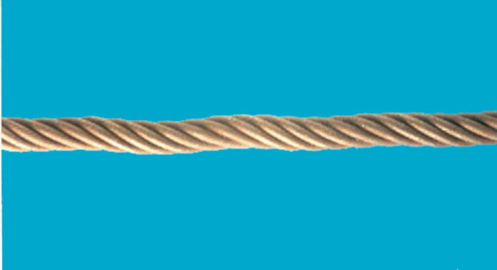 Wave formation in wire rope.