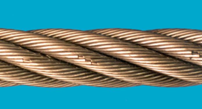 Broken wires due to fatigue.