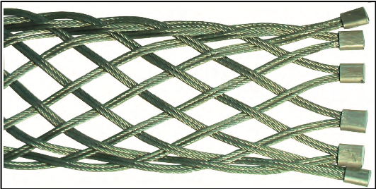 Typical hose sock construction