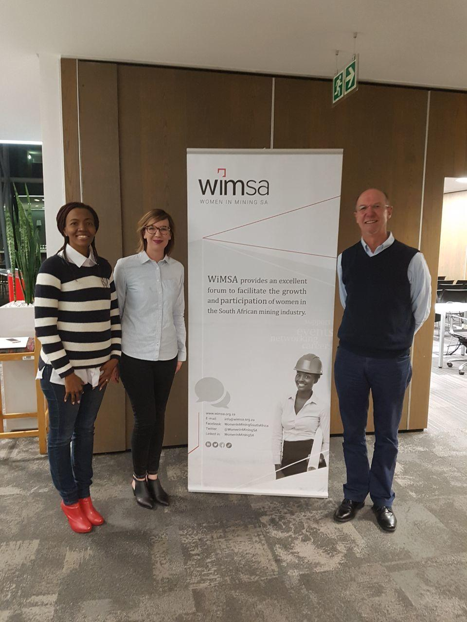 Lindiwe Nakedi, Erin Rice and Colin Rice at the Mentor's Manor event hosted at Worley Parsons