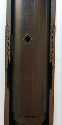 The latches are held inside of the drillstring.