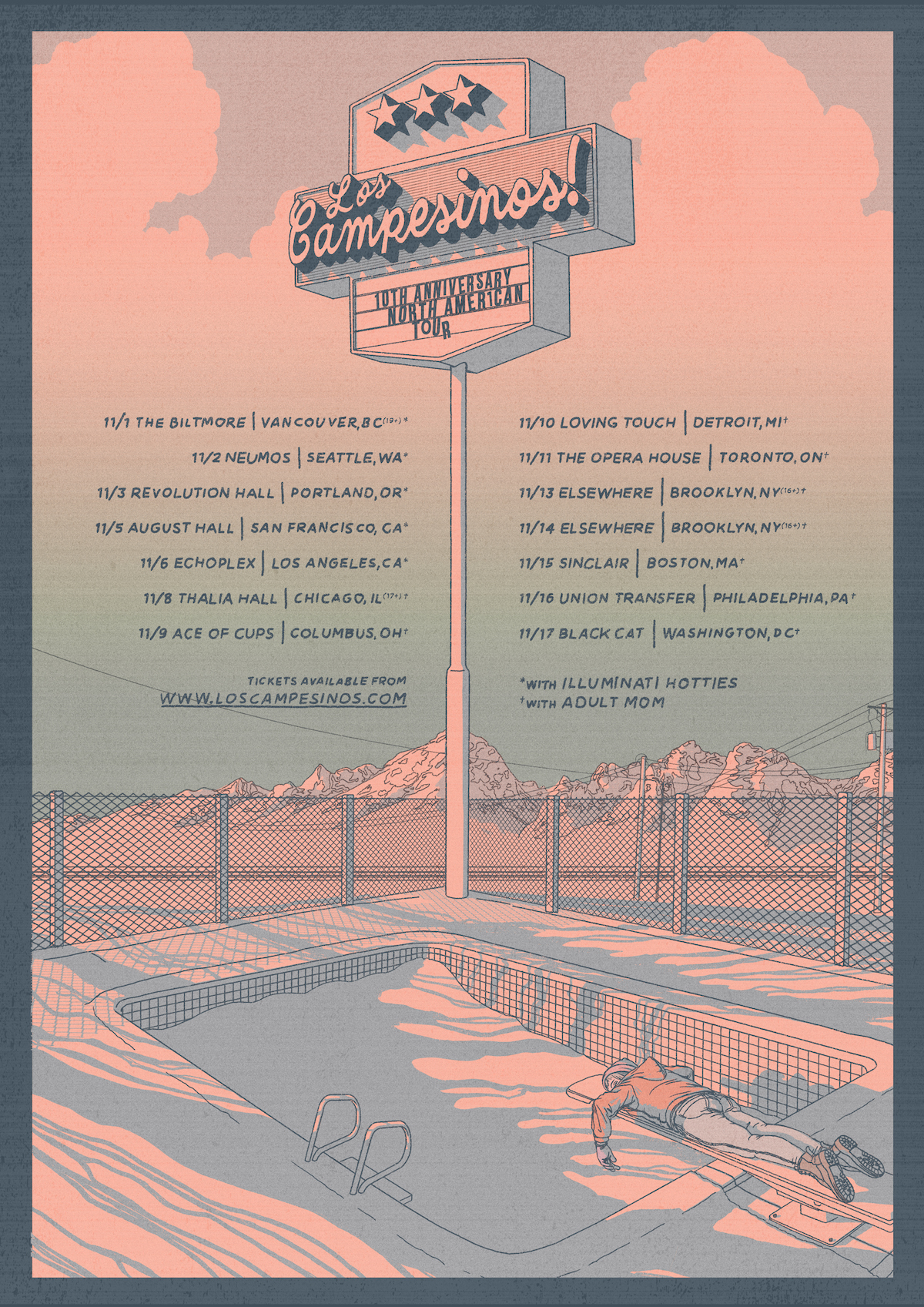 Los Camp! Play North American Tour in November — Los Campesinos!