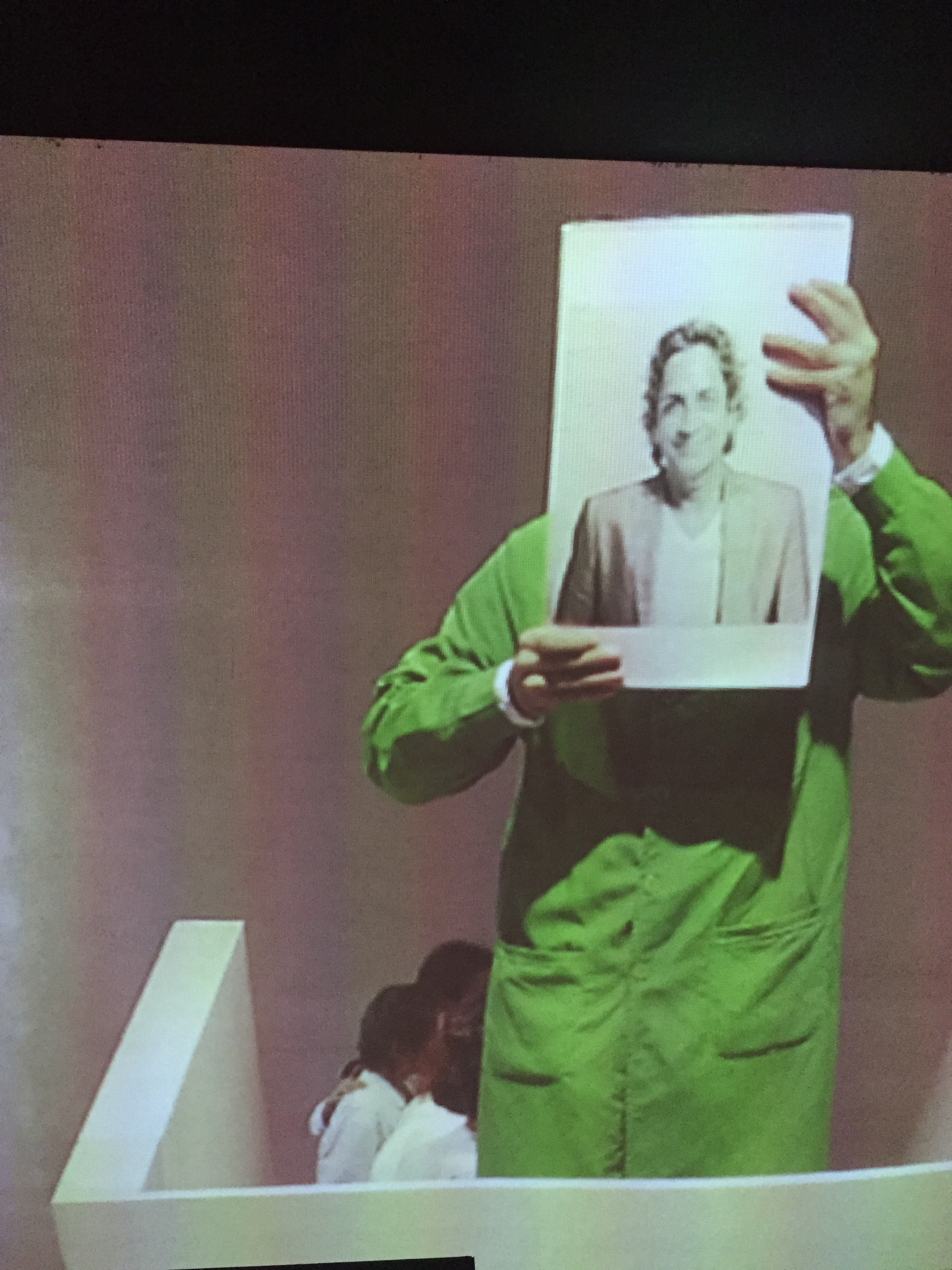Bani/Weng, carrying an image of Haresh Sharma.