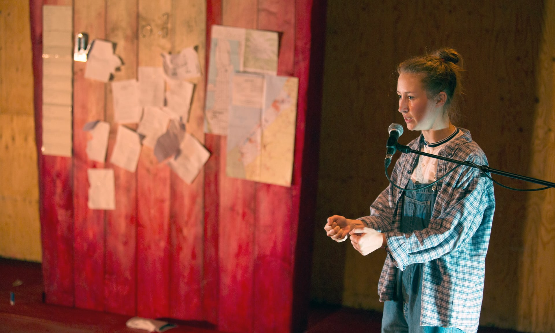 Erin Doherty as Rachel Corrie. Photo by Ellie Kurttz.