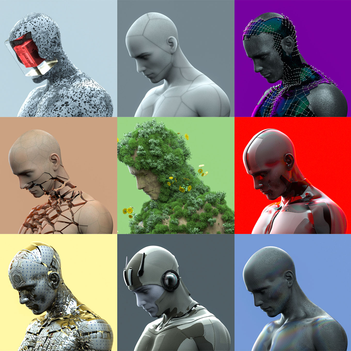 Humanoid Project (9 Project Files for Cinema4D - Octane)
