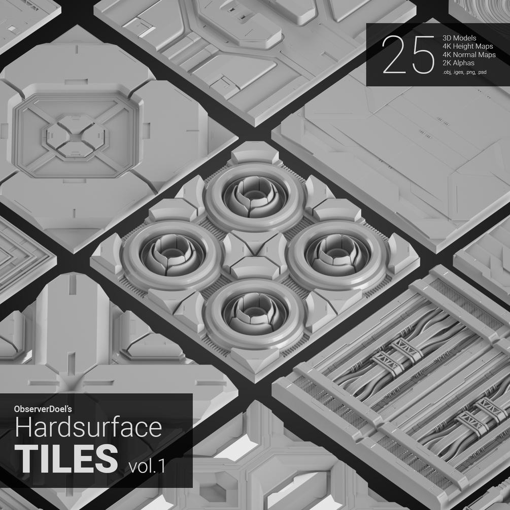 HardSurface Tiles Vol.1 by ObserverDoel