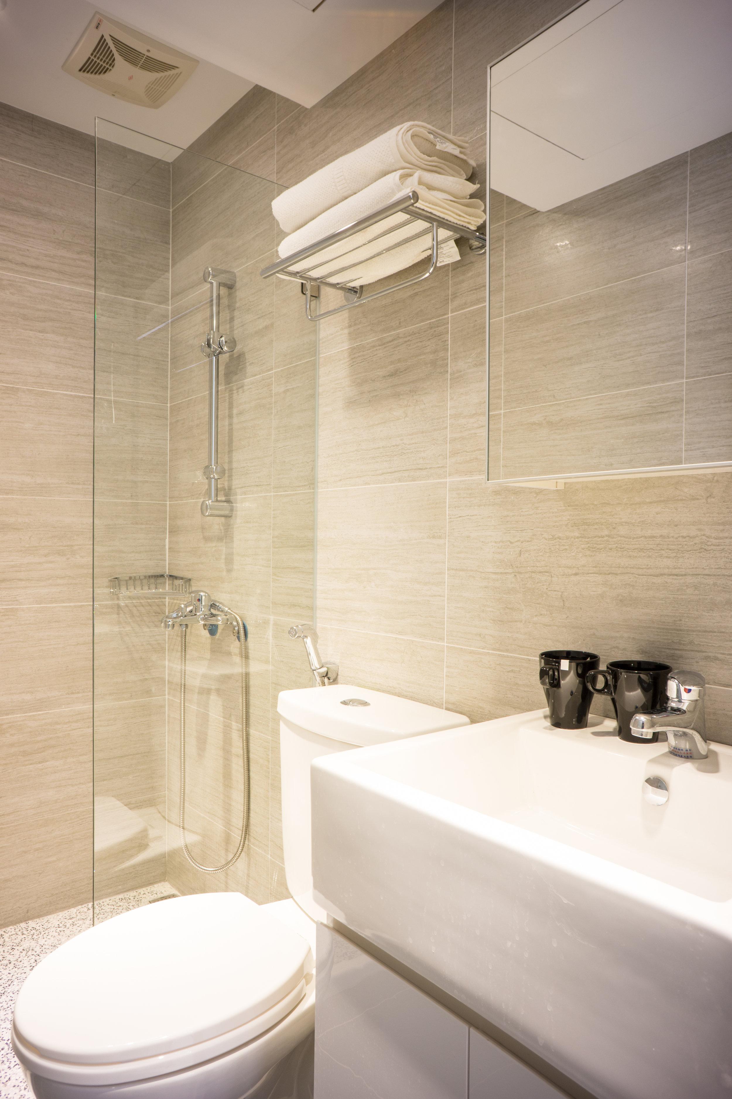 明亮的浴室,房客一眼就愛上。