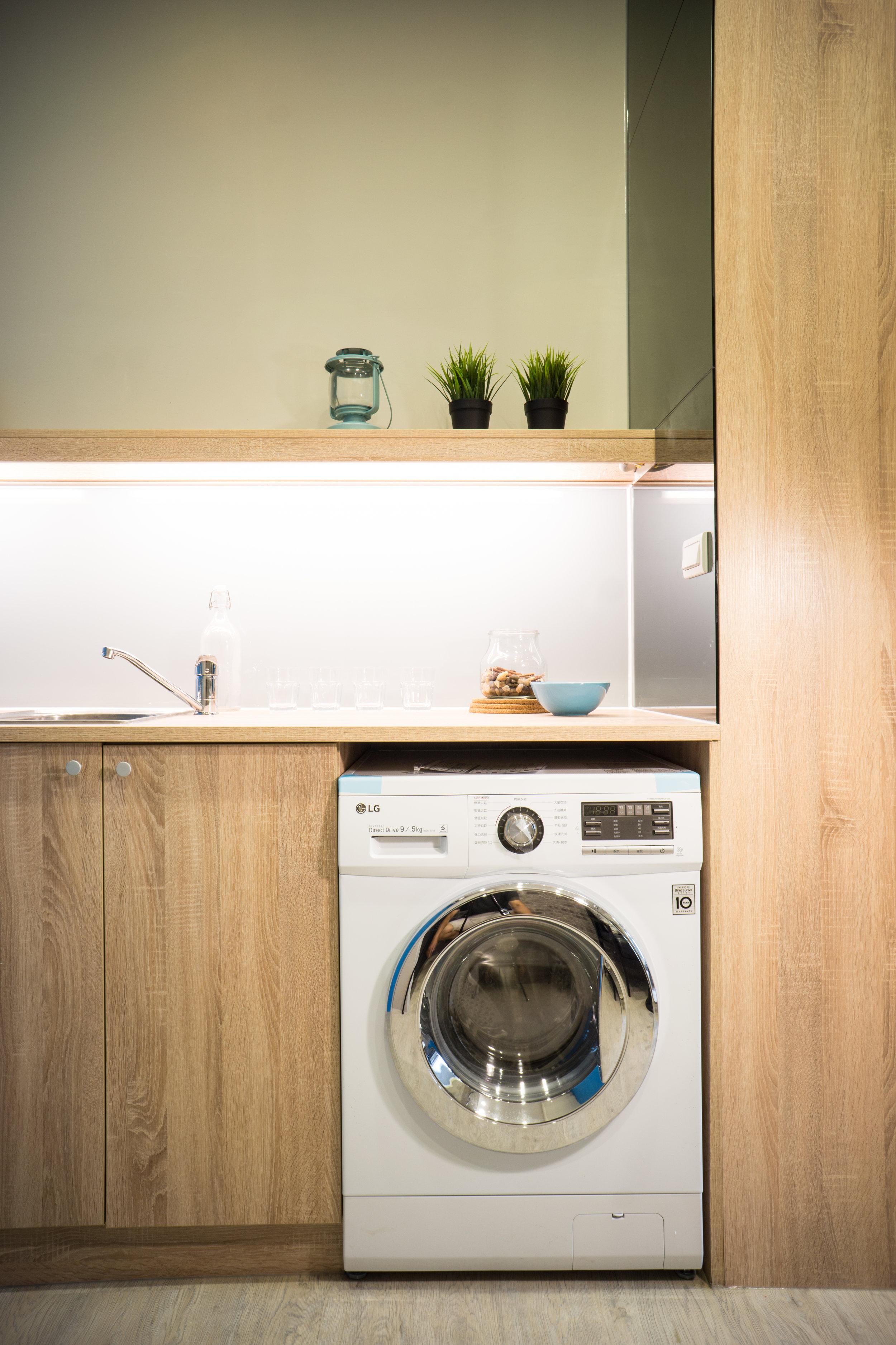 每個房客都有自己的洗衣設備,衛生乾淨,是租屋首選。