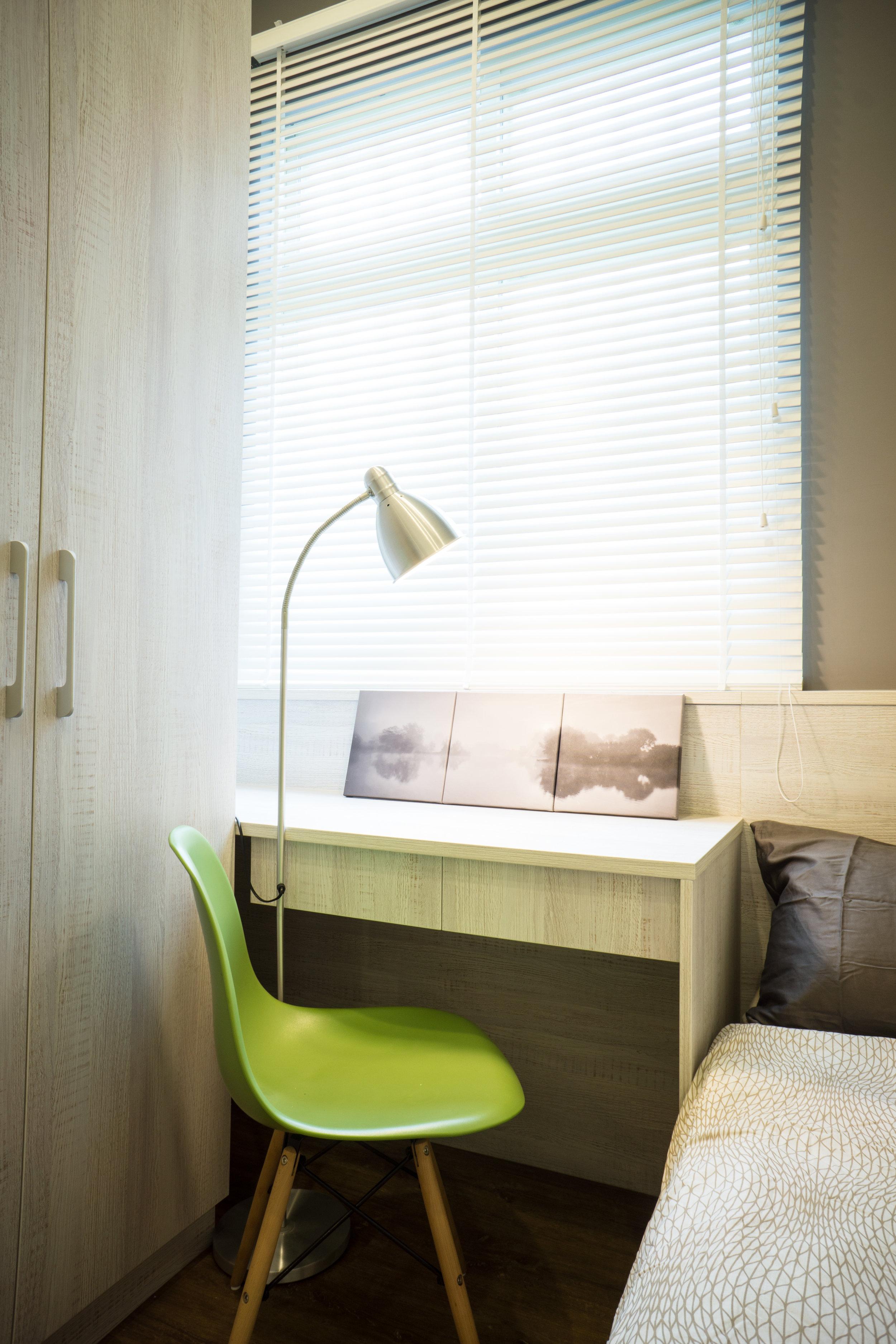 坪數雖然小,也要創造出沉靜的思考空間。房客感受生活品質提升,租金當然up! up!