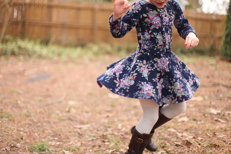 Girls sewing pattern Ileana Dress by Compagnie M.