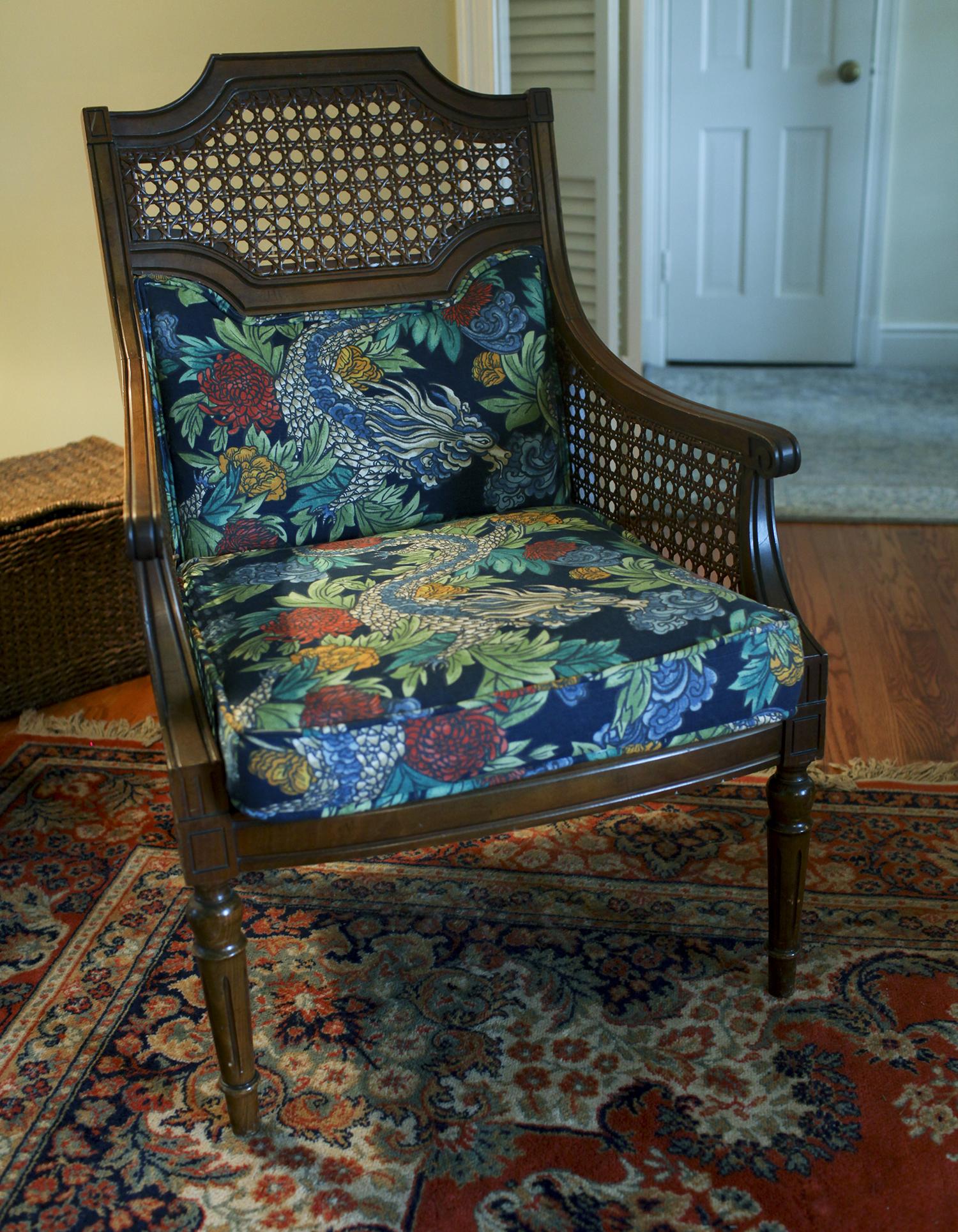 Reupholstered Craigslist Chair