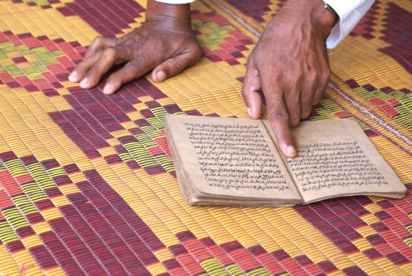 Cham Imam Sann copy of original kitab (holy book) brought from Champa, dated 1385