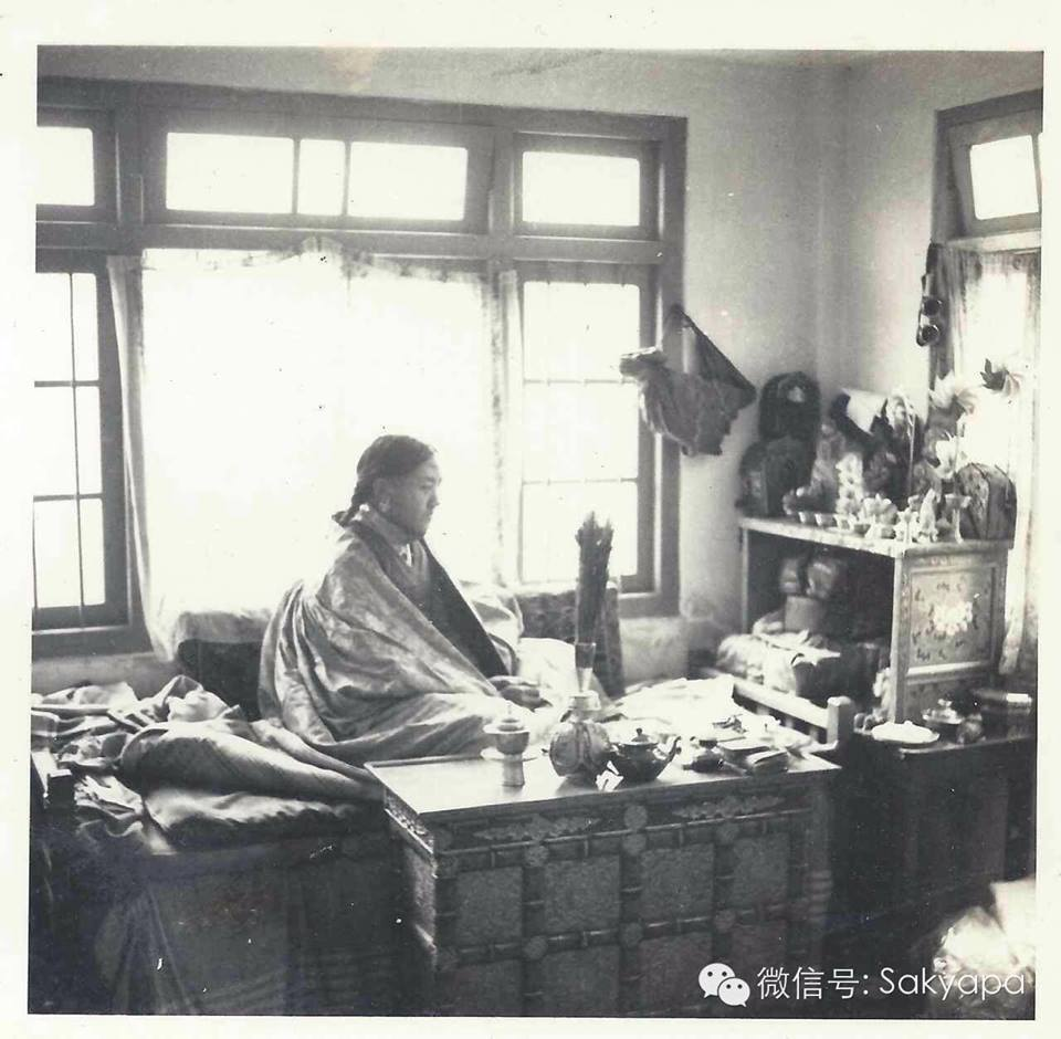 H. H. Sakya Trizin as a young man