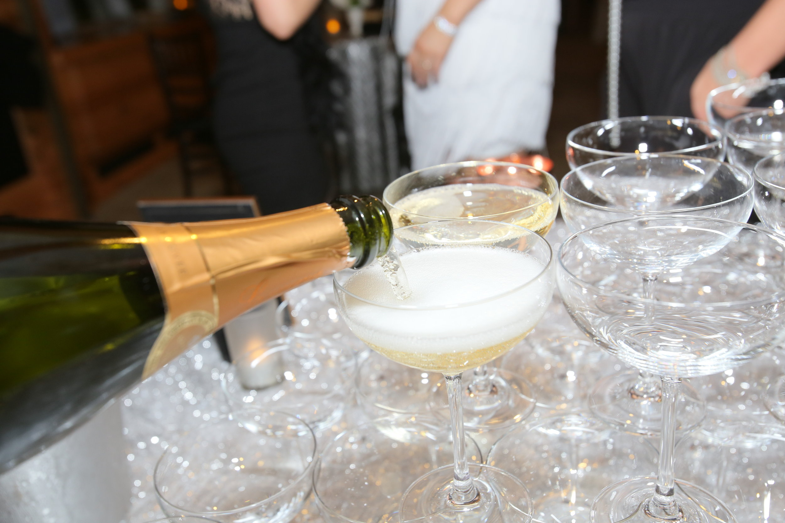 Sara Kovel Events Great Gatsby Engagement Party Catalyst Restaurant  Champagne Tower
