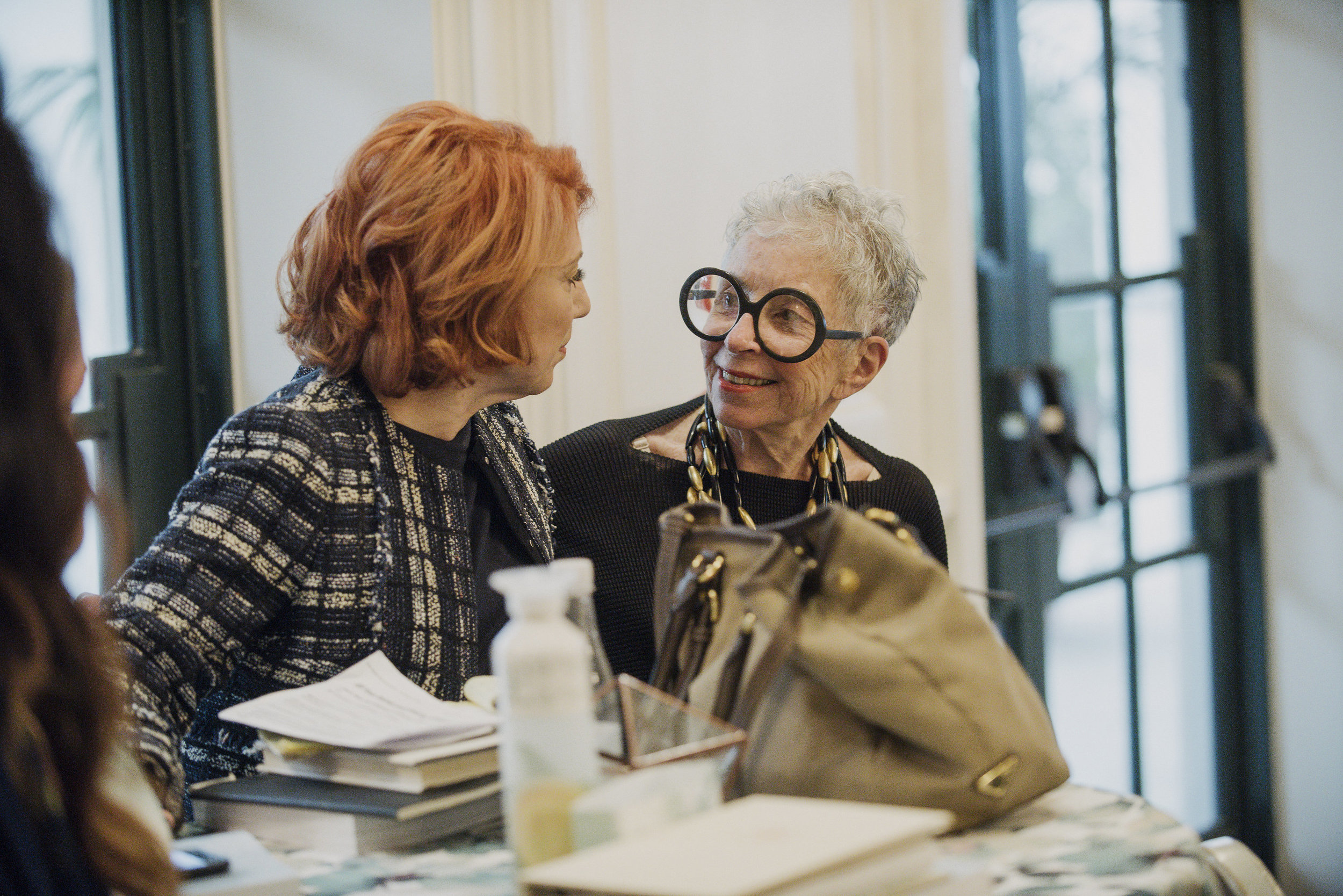 Marcy Blum chatting with the one and only Sylvia Weinstock  Photo by Gigi de Manio