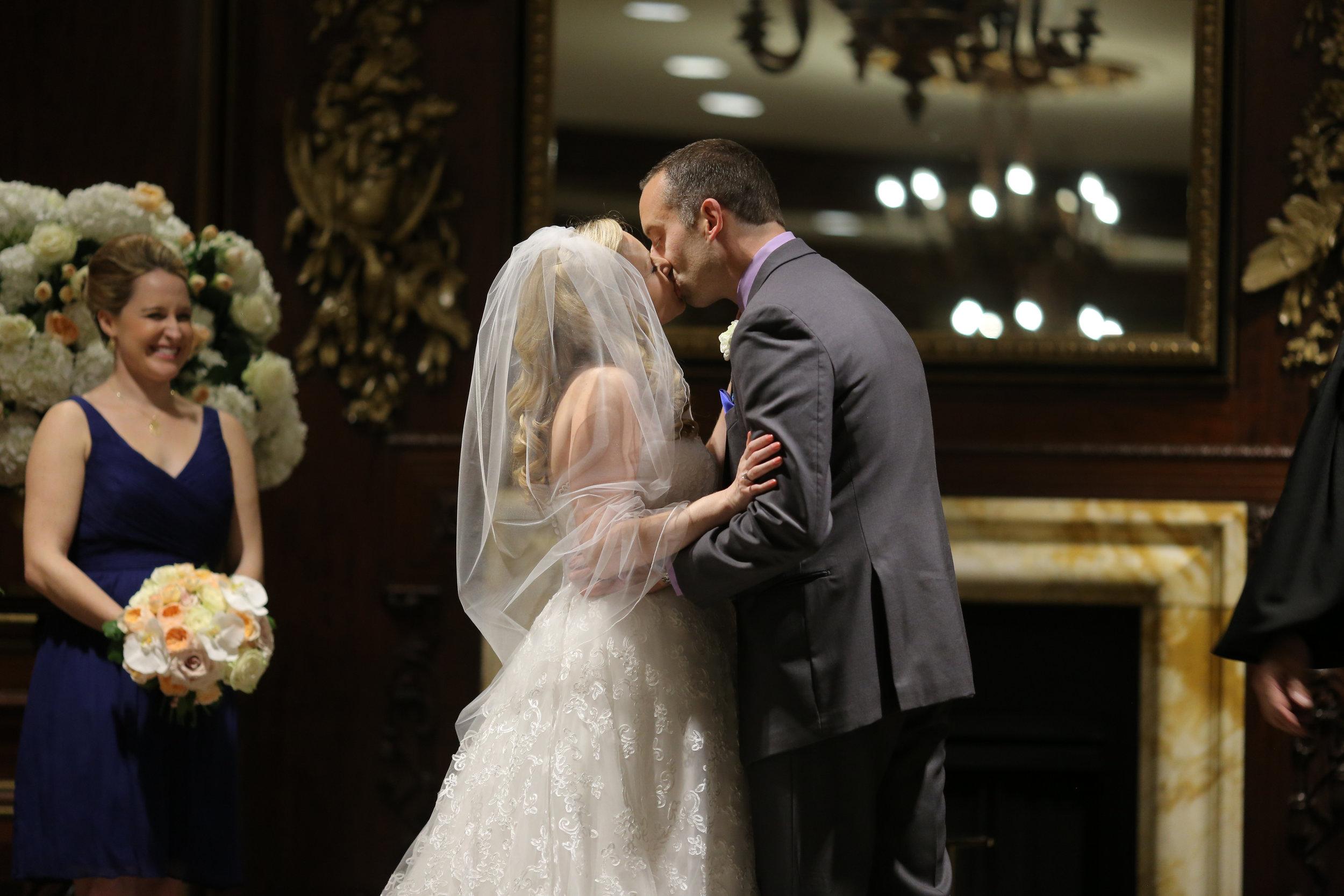 Sara Kovel Events Omni Parker House Wedding First Kiss