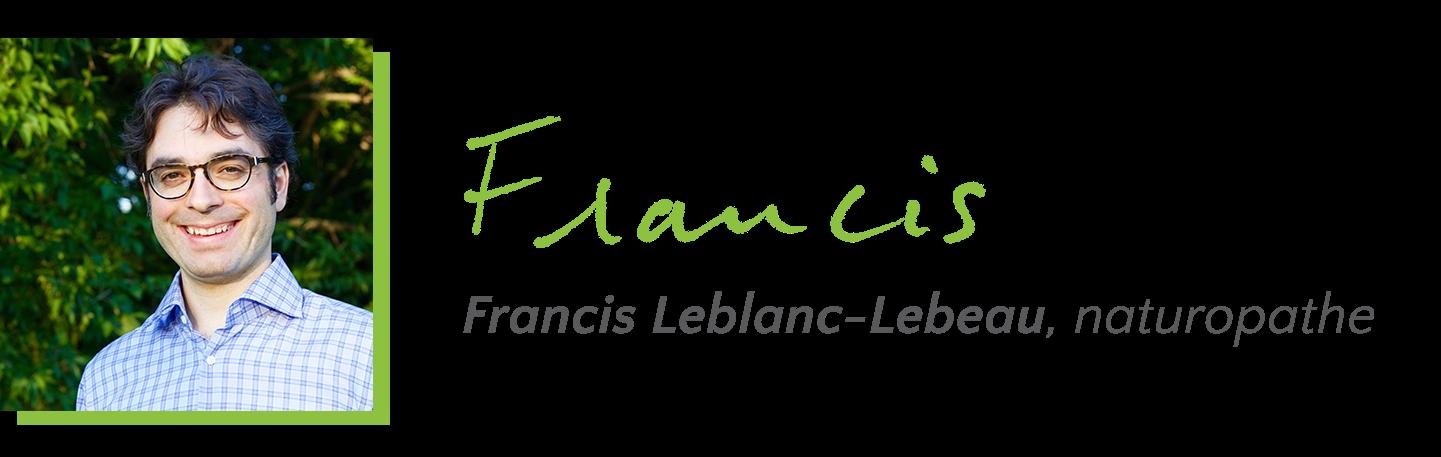Francis Leblanc-Lebeau, naturopathe
