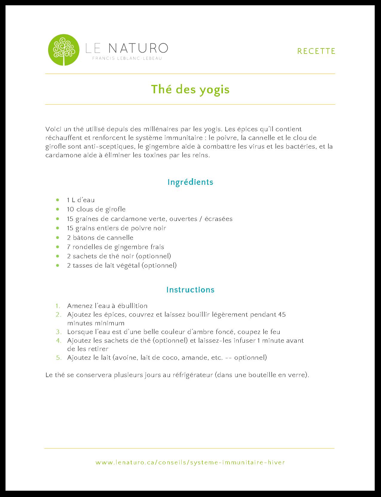 Thé des yogis | Le Naturo