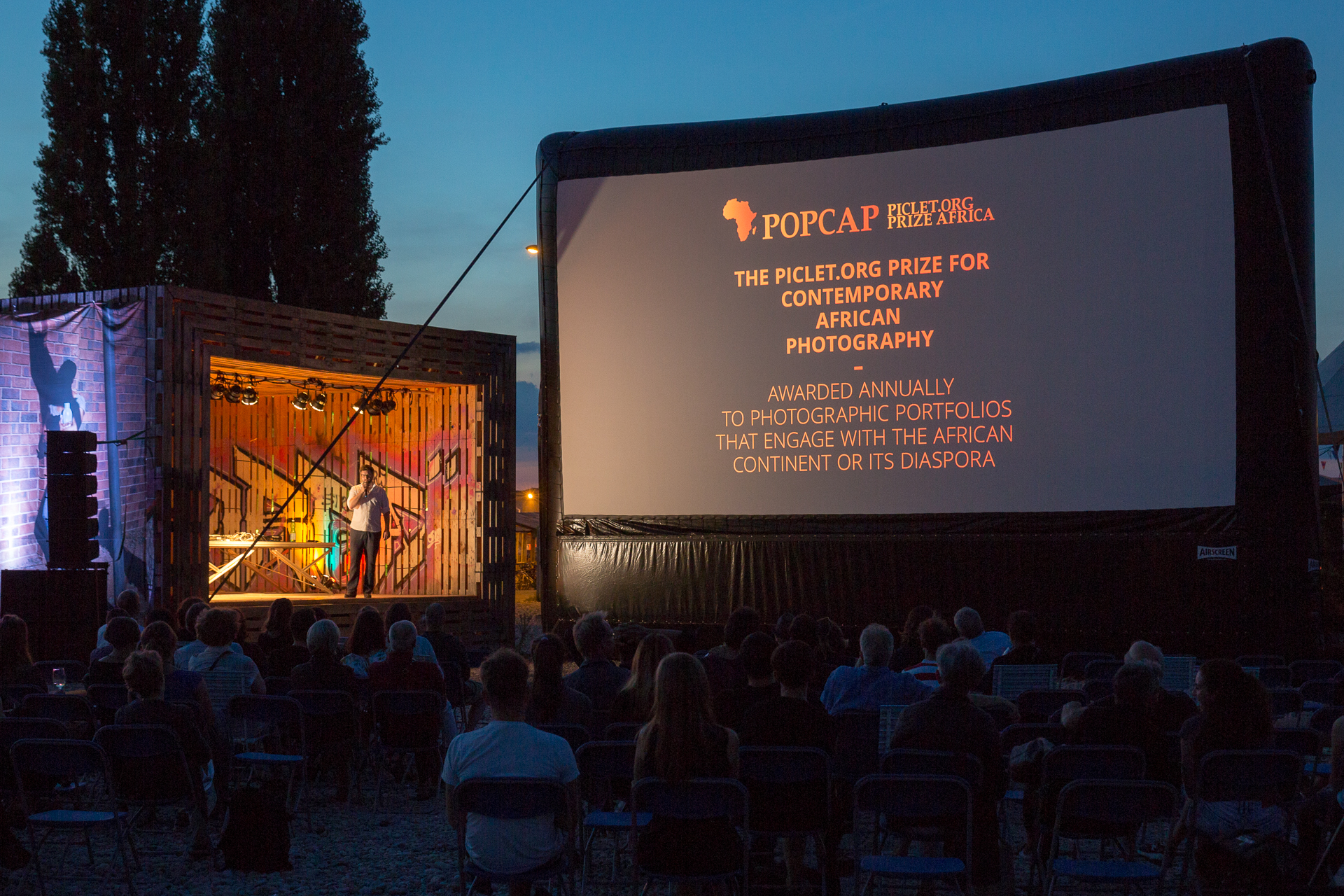 View of POPCAP 2016 award ceremony at  IAF Basel – Festival for Contemporary Art  in September 2016, Basel, Switzerland
